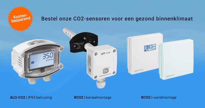 Verschillende uitvoeringen CO2-sensoren